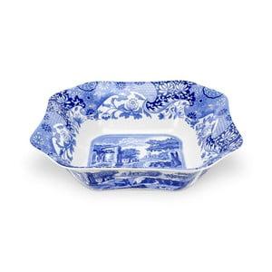 Bielo-modrá porcelánová misa na šalát Spode Blue Italian