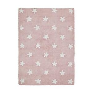 Ružový bavlnený ručne vyrobený koberec Lorena Canals Stars, 120 x 160 cm