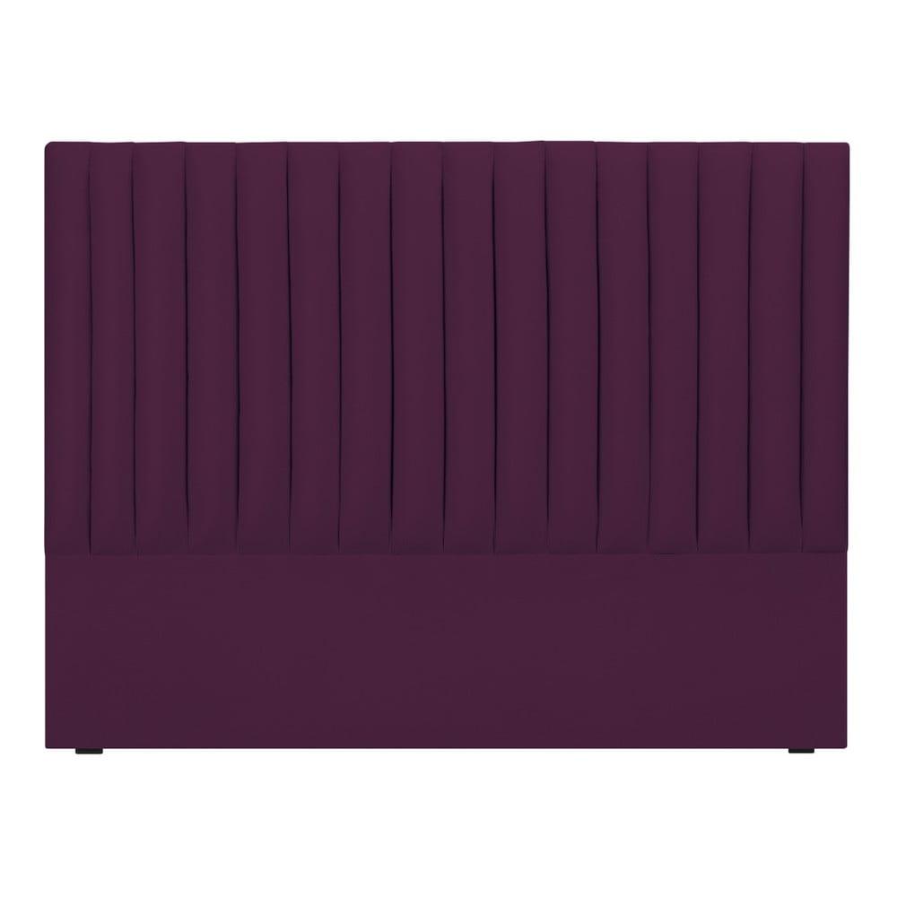 Fialové čelo postele Cosmopolitan design NJ, 200 × 120 cm