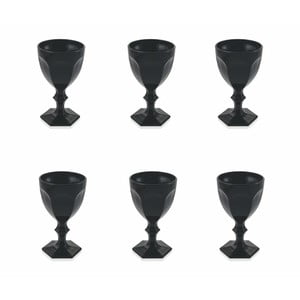 Sada 6 čiernych pohárov Villa d'Este Wonderland, 170 ml