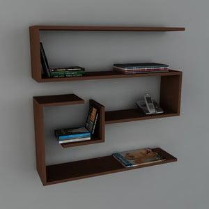 Polica Confier Book Wenge, 22x90x87 cm