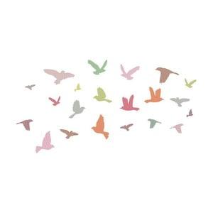 Nástenné samolepky Art For Kids Pink Birds