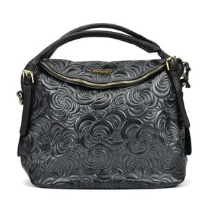 Čierna kožená kabelka Mangotti Hurmenna