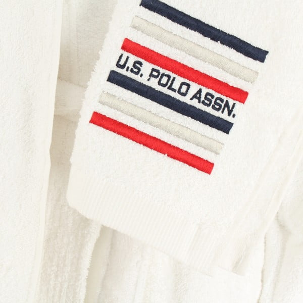 Biela sada dámskeho župana a 2 uterákov U.S. Polo Assn. Lutsen, veľ. XL