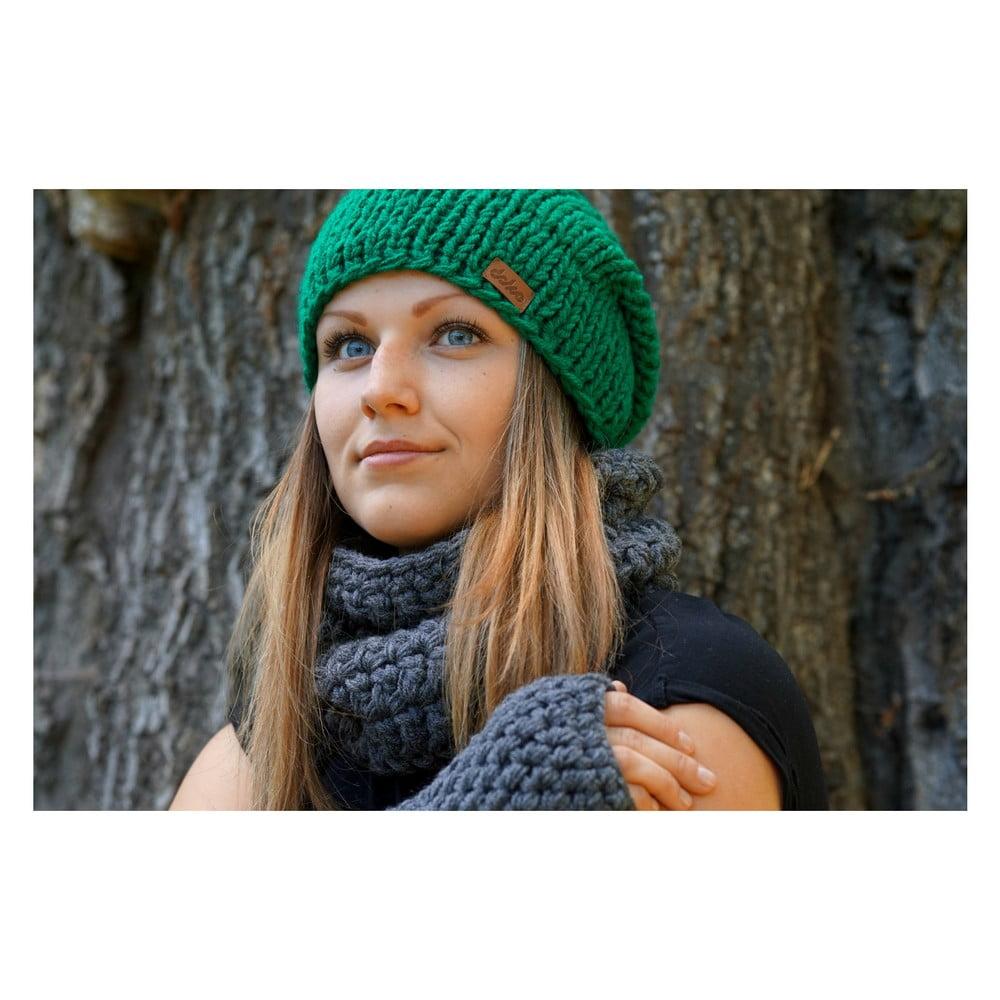 62c0c2be7 Zelená ručne pletená čiapka DOKE Mina | Bonami