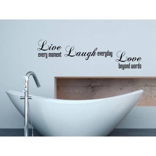 Dekoratívna nástenná samolepka Live Laugh Love