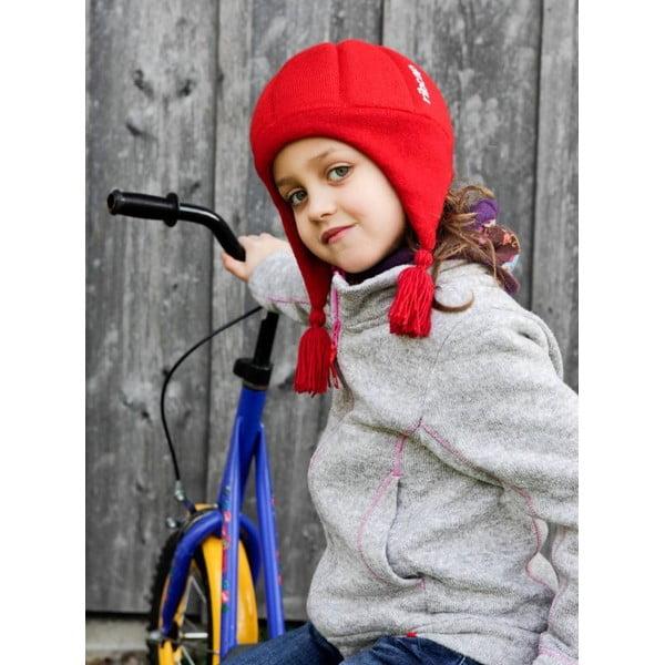 Detská modrá čapica s ochrannými prvkami Ribcap Chessy, veľ. S
