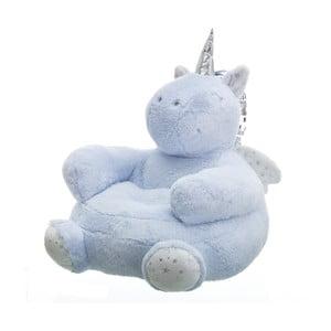Modrý puf v tvare jednorožca Unimasa Unicorn
