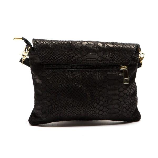 Čierna kožená kabelka Sofia Cardoni Cira