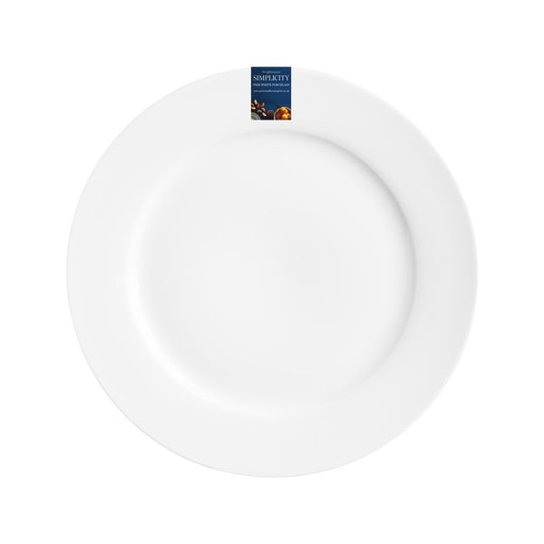 Biely tanier na šalát Price & Kensington Simplicity,Ø23cm
