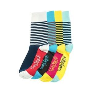 Sada 4 párov unisex ponožiek Funky Steps Bak, veľkosť 39/45