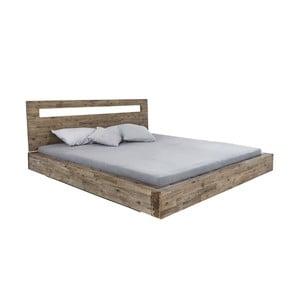 Dvojlôžková posteľ z akáciového dreva Woodking Marlon, 180 x 200 cm