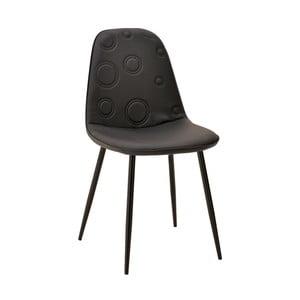 Čierna stolička InArt Elegant Circles