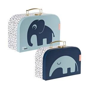 Sada 2 modrých kufríkov Done by Deer Safar