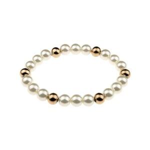 Dámsky perlový antikoro náramok v zlatej farbe Victoria Wall Fiana