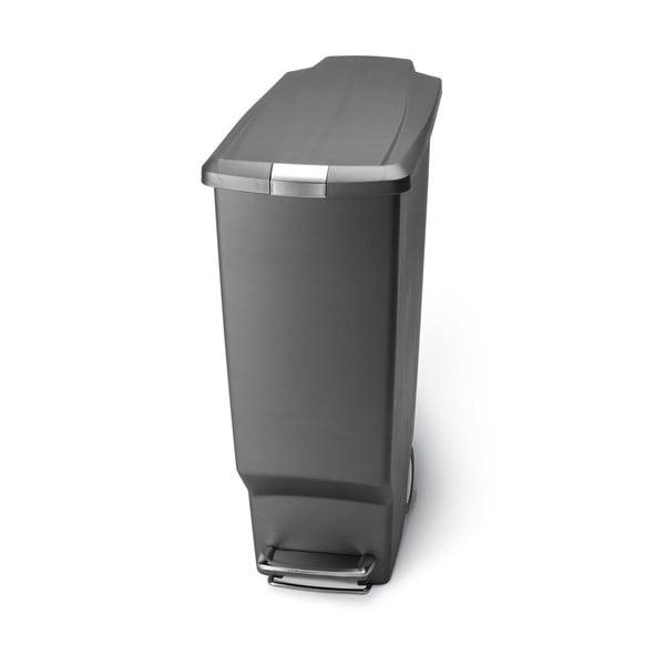 Pedálový kôš na odpadky Sisi 40 l, sivý