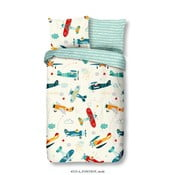 Detské obliečky z bavlny na jednolôžko Good Morning Airplane, 140×200 cm