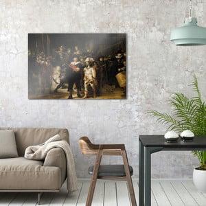 Sklenený obraz OrangeWallz War, 76 x 114 cm