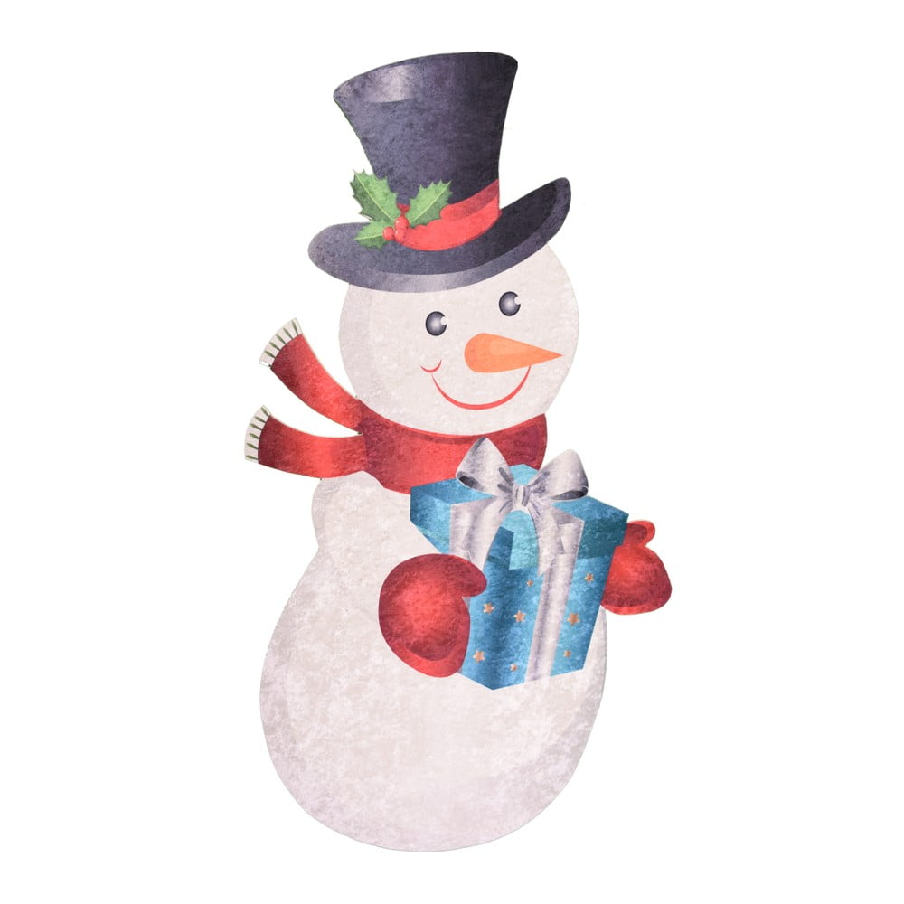 Koberec Vitaus Snowman, 60 × 100 cm