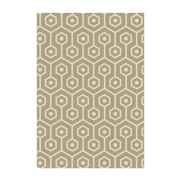 Koberec z vinylu Hexagonos Beige, 70x100 cm