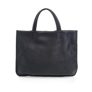 Čierna kožená kabelka Woox Avita