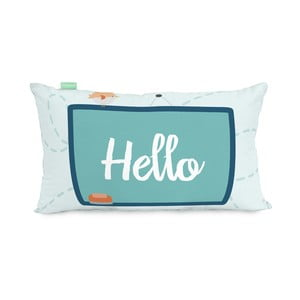 Obliečka na vankúš z čistej bavlny Happynois Notebook, 50×30 cm