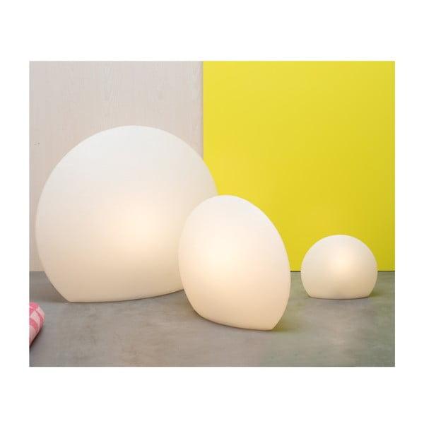 Lampa Eggo 30 cm, biela