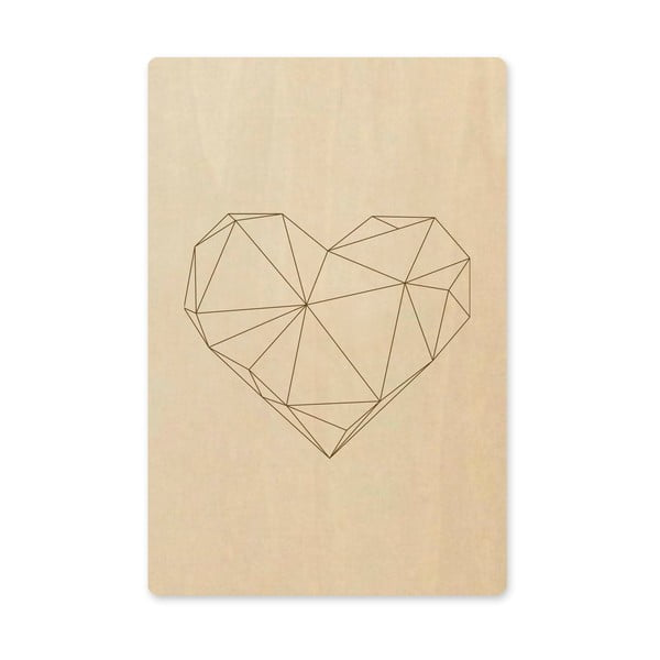 Obraz Novoform Artboard Engraved Heart, A6