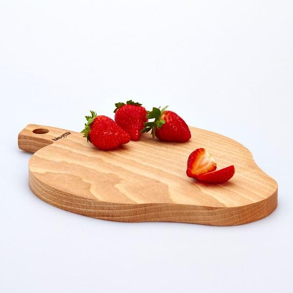 Buková doska na krájanie Strawberry, 23x32 cm