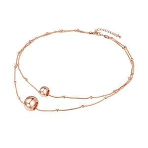 Dámsky náhrdelník vo farbe ružového zlata Runaway Jingle