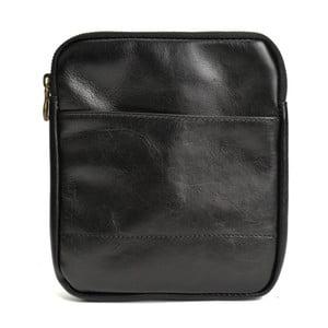Čierna kožená kabelka Renata Corsi Hartenna