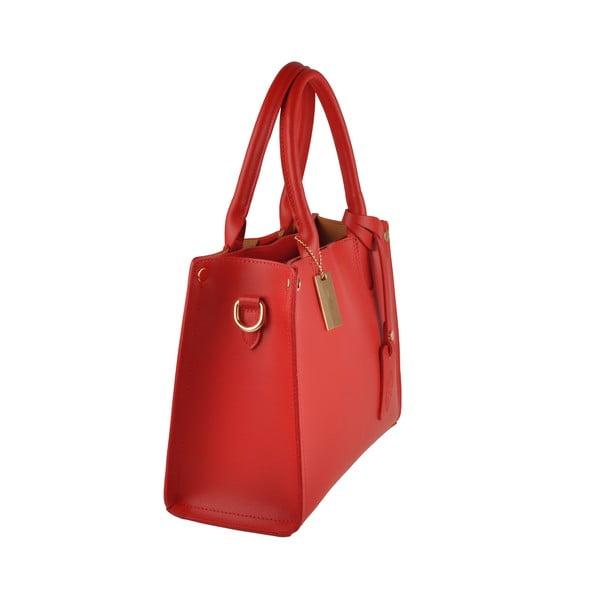 Červená kožená kabelka Florence Emilio Masi Manor