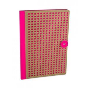 Ružový zápisník B5 Portico Designs Laser