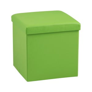 Zelená taburetka s úložným prostorem Actona Sada