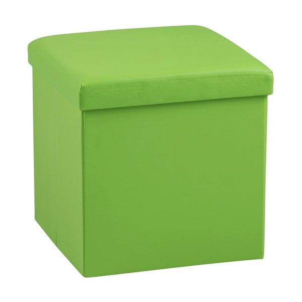 Zelená taburetka s úložným priestorom Actona Sada