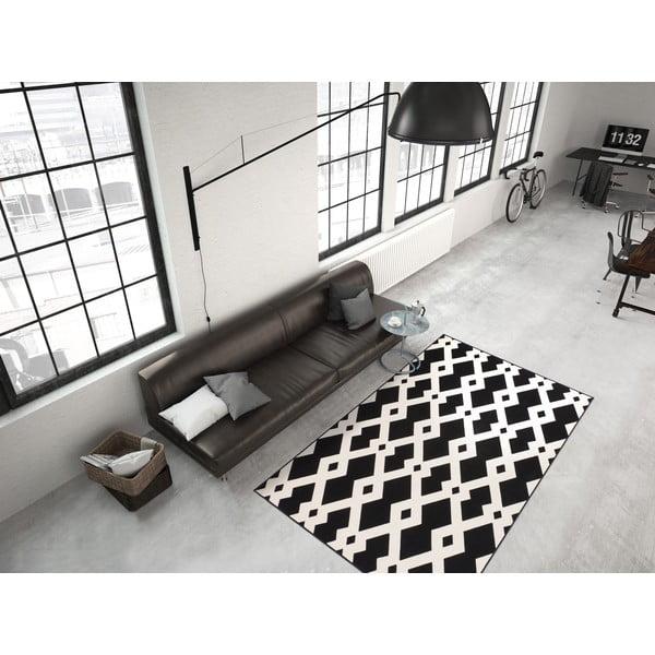 Čierno-biely koberec Kayoom Stella 100 Black, 120x170cm