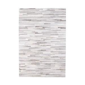 Sivý koberec z hovädzej kože Arctic Fur Patchwork Rug Shadows, 180 × 120 cm