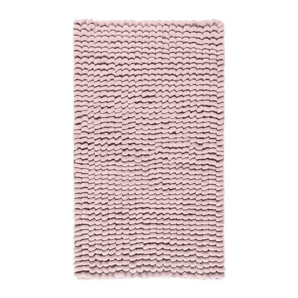 Ružová kúpeľňová predložka Aquanova Luka, 60 x 100 cm