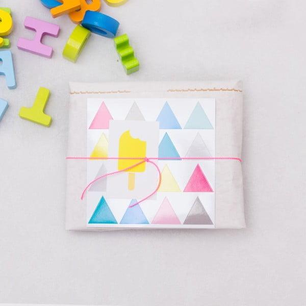Papierové vrece Happy Dreiecke DIY