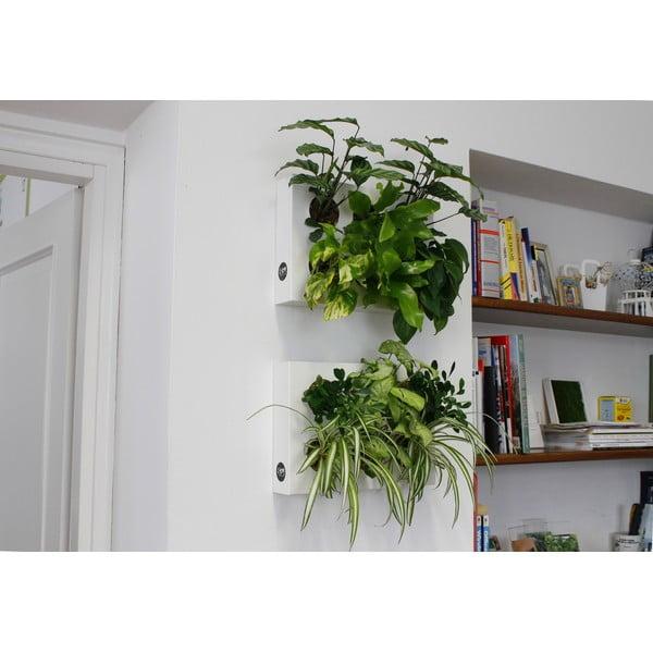 Vertikálny kvetináč HOH! Bianco, 38x27 cm