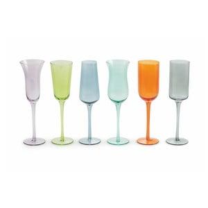 Sada 6 farebných pohárov na víno Villa d'Este Cromite Flute, 200 ml