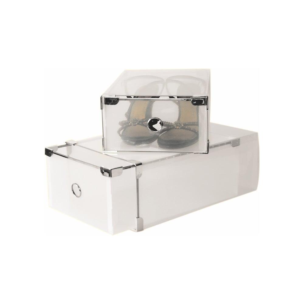 Set 2 boxov na topánky Jocca Plastic Boxes, 34 x 22 cm