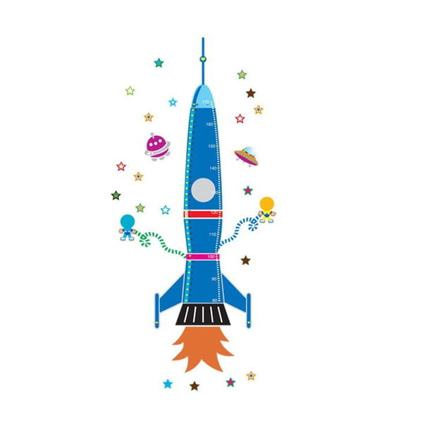 Dekoratívna samolepka Colorful Rocket