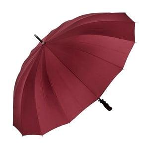Tmavočervený dáždnik s rúčkou Von Lilienfeld Cleo XXL