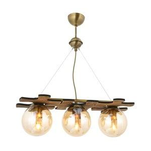 Drevené závesné svietidlo Avoni Lighting Puzzle Antique