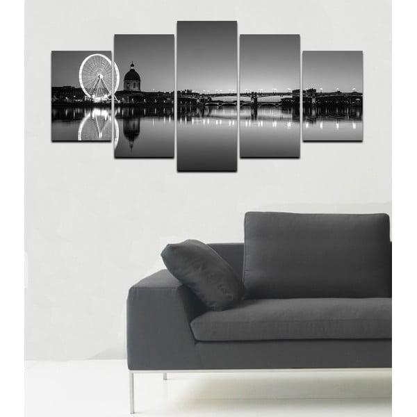 Viacdielny obraz Black&White no. 70, 100x50 cm