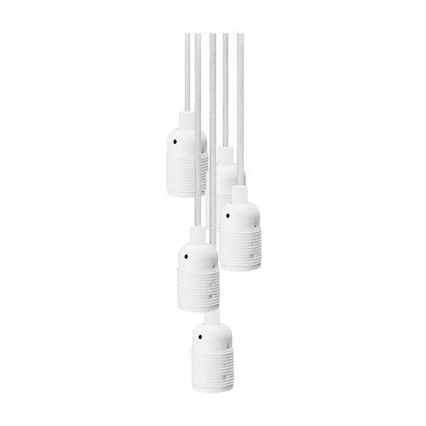 Biele závesné svietidlo s 5 káblami Bulb Attack Uno Basic Unit