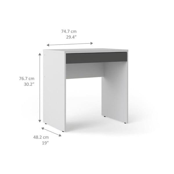 Bielo-sivý pracovný stôl Evergreen Houso Party