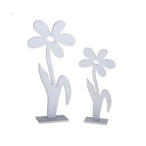Sada 2 drevených dekorácií v tvare kvetiny Dino Bianchi Spezia