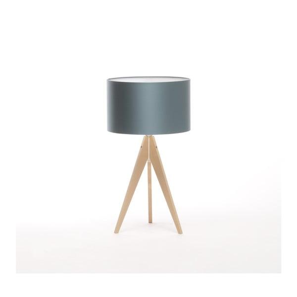 Modrá stolová lampa 4room Artist, breza, Ø 33 cm